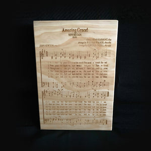 Custom Engraved Wall Art - Amazing Grace!
