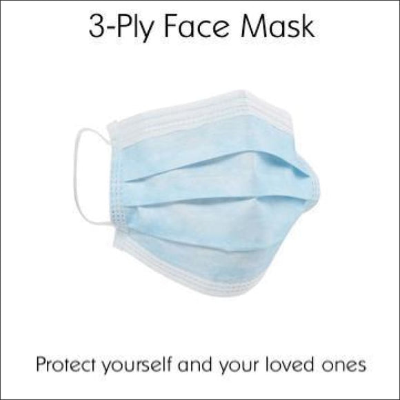 3-Ply Disposable Face Mask (Pack of 50) | Covid-19 | In Touch Telecoms Ltd