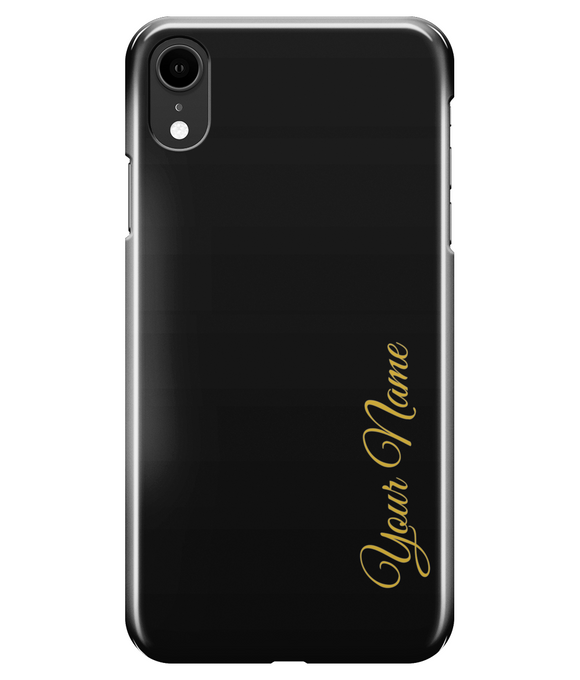 Personalised Gold Font Case | iPhone 8/7, 8/7+, XR, XS/X, S9 Case | In Touch Telecoms Ltd