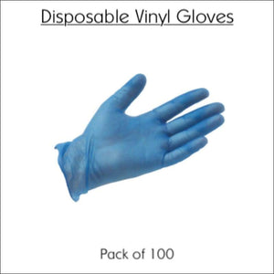 Disposable Vinyl Gloves (Box of 100) | Meets the WHO Standards for Covid-19 | In Touch Telecoms Ltd