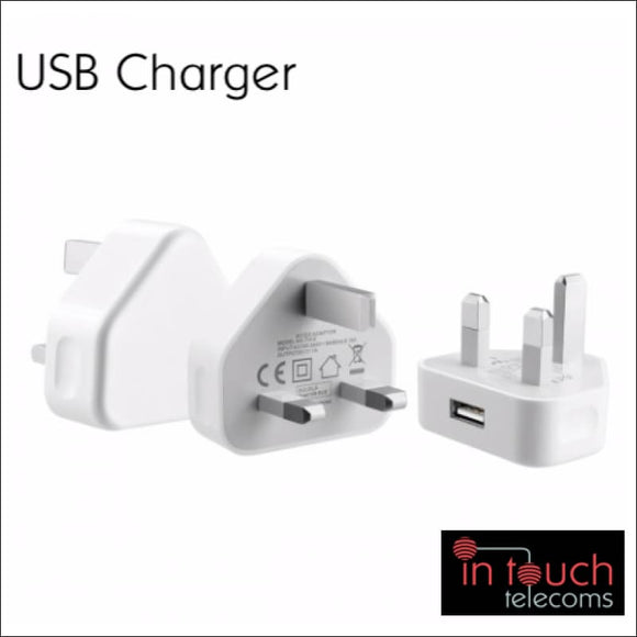 Fast 5V 1A USB Home Charger | Compact iPhone and Samsung Galaxy | In Touch Telecoms Ltd