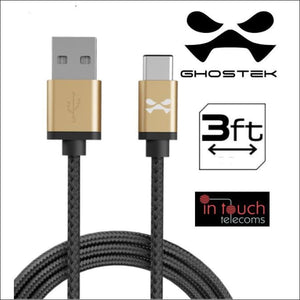 Fast Charge 1m Type-C Cable | Ghostek NRGline | In Touch Telecoms Ltd