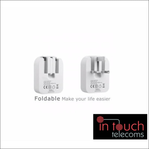 Fast Foldable 5V 1A USB Home Charger | Compact iPhone and Samsung Galaxy | In Touch Telecoms Ltd
