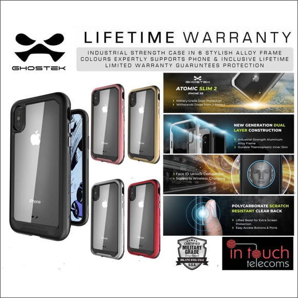 Ghostek Atomic Slim 2 Case for iPhone XS Max | Military Drop Tested Rugged Case | In Touch Telecoms Ltd