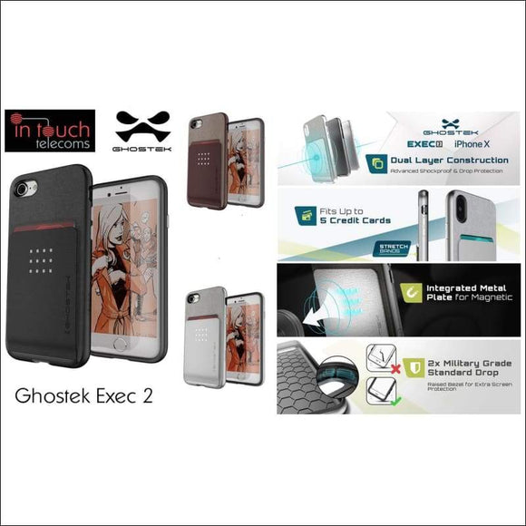 Ghostek Exec 2 Case for iPhone 8/7/SE | Military Drop Tested Rugged Case | In Touch Telecoms Ltd