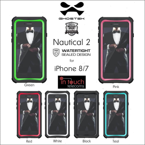 Ghostek Nautical 2 for iPhone 8/7 | Military Drop Tested 360° Case | In Touch Telecoms Ltd
