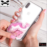 Ghostek Scarlet Case for iPhone XS / X | Clear Glitter Sparkle (Agate) | In Touch Telecoms Ltd