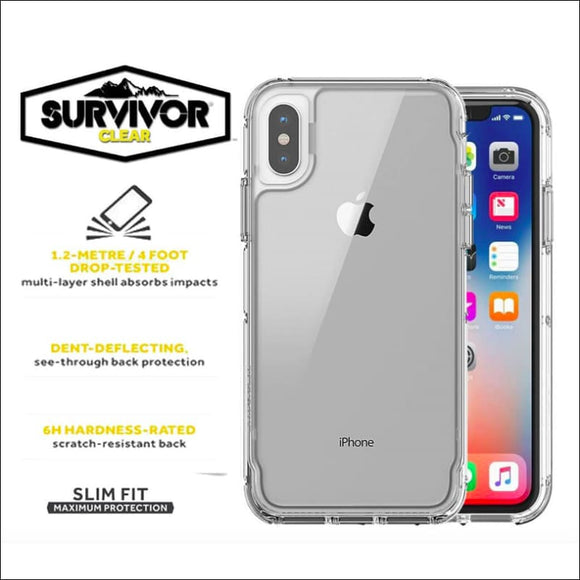 Griffin Survivor Clear - Transparent for iPhone 8/7, 8/7 Plus, XS and X | In Touch Telecoms Ltd