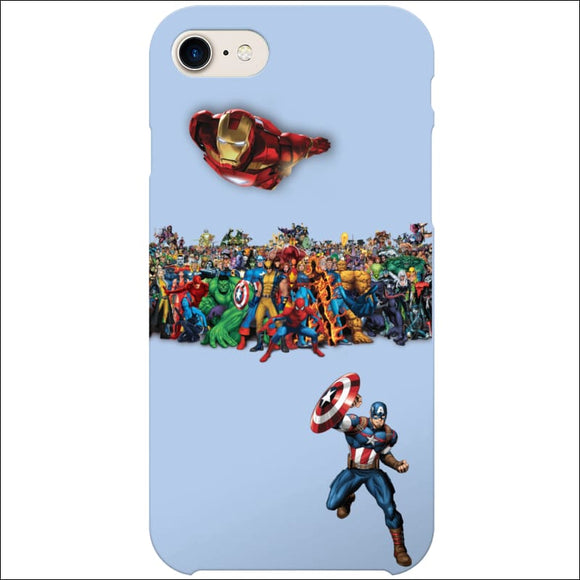 iPhone 8/7 Case - Superheroes | Captain America, Ironman, Marvel (Optional Name) | In Touch Telecoms Ltd
