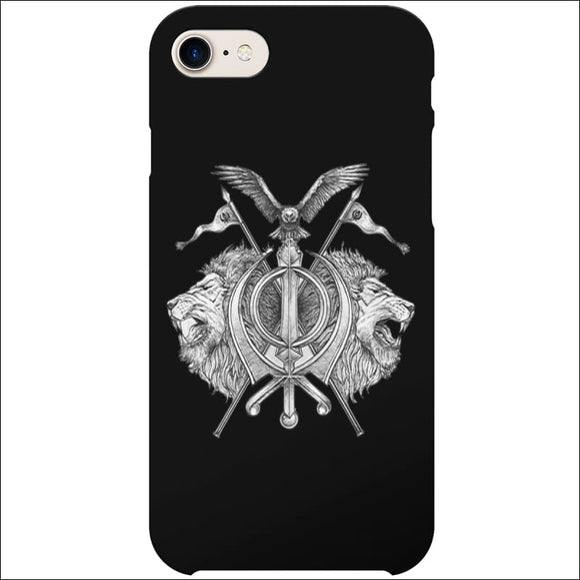 iPhone 8/7/6S Case - Sikh Khanda Lion | In Touch Telecoms Ltd