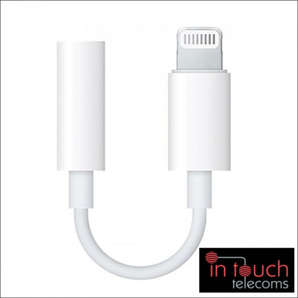 Lightning to 3.5mm Headphone Jack Adapter | Compatible with iOS 13 | In Touch Telecoms Ltd