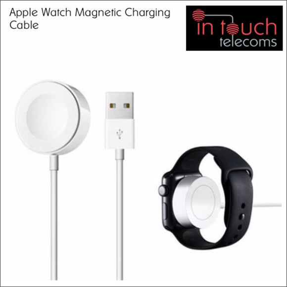 Magnetic Charging Cable for iPhone Watch Supports OS 5.1 - White | 1 Metre | In Touch Telecoms Ltd