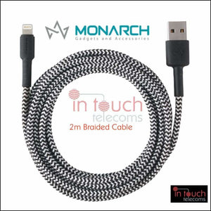Monarch Braided Type-C Charging Cable for Samsung Galaxy S20 | 2 Metres | In Touch Telecoms Ltd