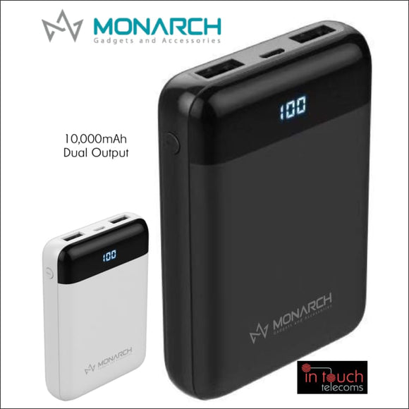 Monarch Gadgets C10 Power Bank with Dual Output 10000mAh Capacity | Fast Charge | In Touch Telecoms Ltd
