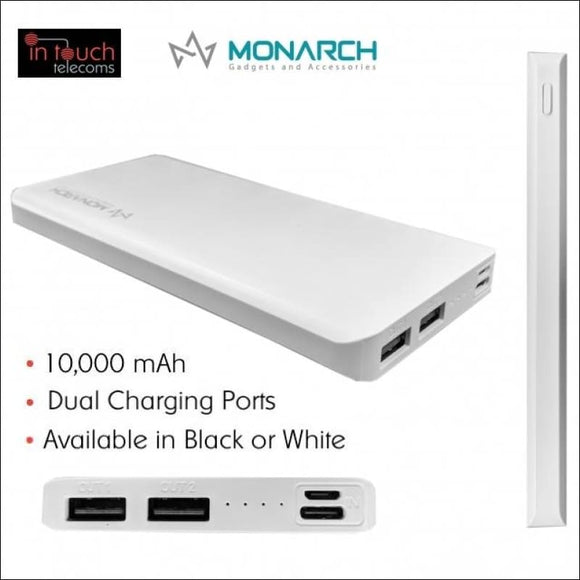 Monarch Gadgets C15 Power Bank with Dual Output 10000mAh Capacity | Fast Charge | In Touch Telecoms Ltd