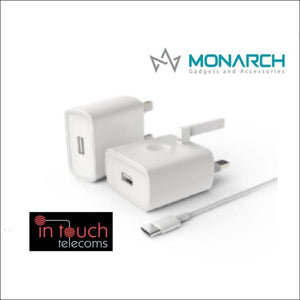 Monarch Gadgets Fast 5V 2A Type-C Home Charger with 1m Type-C Cable | In Touch Telecoms Ltd