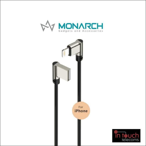 Monarch Gadgets W-Series | Lightning USB Cable - Black | In Touch Telecoms Ltd