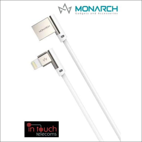 Monarch Gadgets W-Series | Lightning USB Cable - White | In Touch Telecoms Ltd
