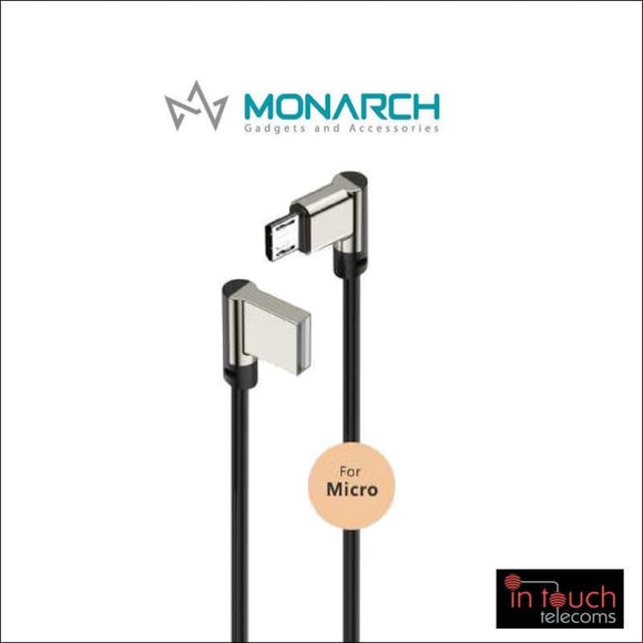 Monarch Gadgets W-Series | Micro USB Cable - Black | In Touch Telecoms Ltd