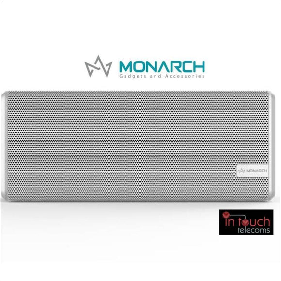 Monarch Gadgets Wireless Portable Speaker - White | Bluetooth Speaker | In Touch Telecoms Ltd