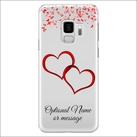 Samsung Galaxy S9 Case | Valentine Hearts D1 (Optional Name/Message) | In Touch Telecoms Ltd