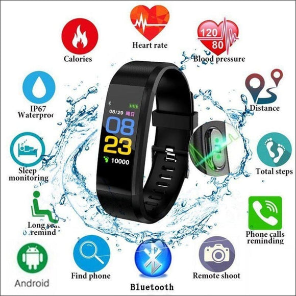 Sports Fitness Smartwatch 115Plus | iOS and Android | In Touch Telecoms Ltd