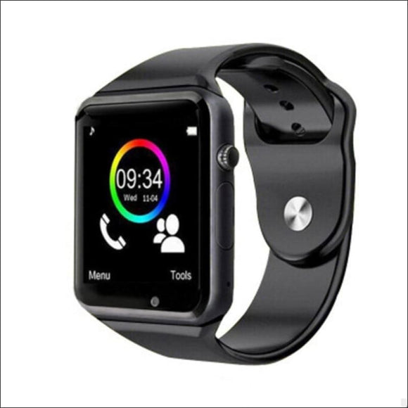 Sports Fitness Smartwatch with SIM for Apple Samsung Huawei | Silver & Black | In Touch Telecoms Ltd