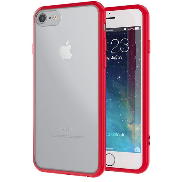 Xquisite iPhone 8/7/SE Metallic Bumper Case - Red | In Touch Telecoms Ltd
