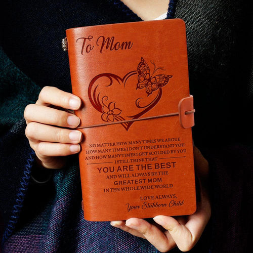 To My Mom You Best Love from Daughter Son Child Engraved Leather Journal Notebook Diary Custom Quotes Gift Anniversary Birthday Graduation