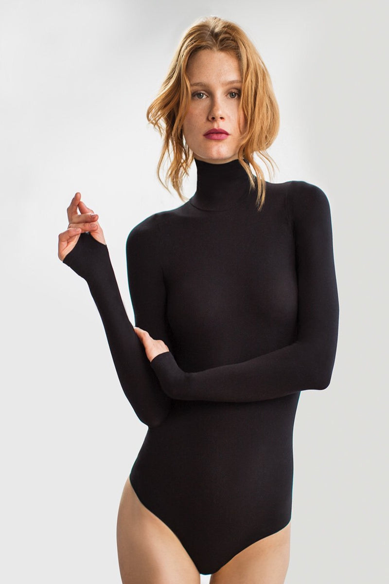 BALLET THUMB-HOLE TURTLENECK BODYSUIT