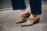 HAIR-ON HIDE LEOPARD MULES