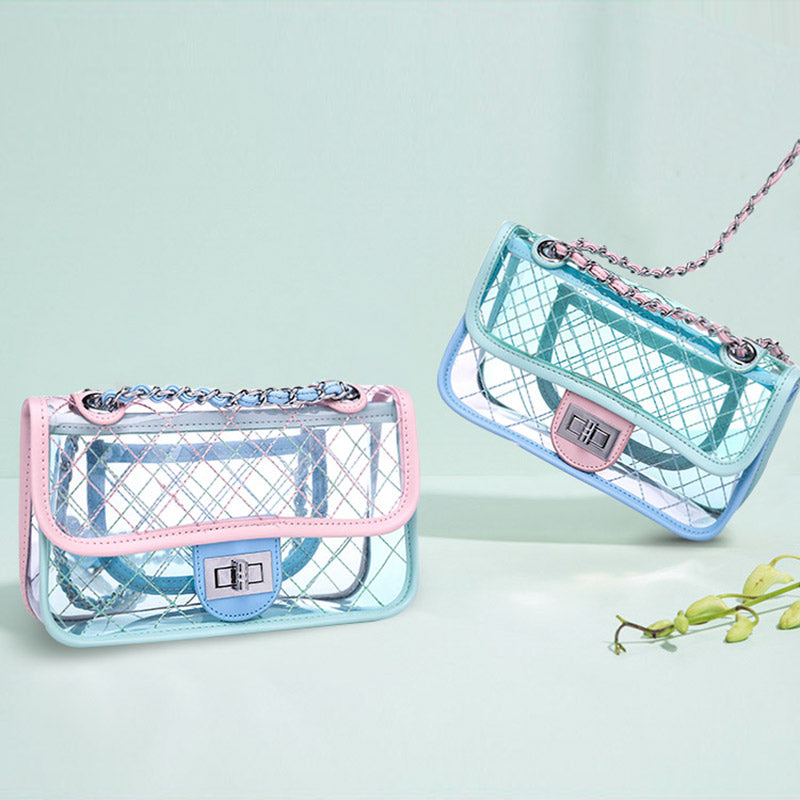 Handbag - Quilted Transparent Clutch - SummerHaus
