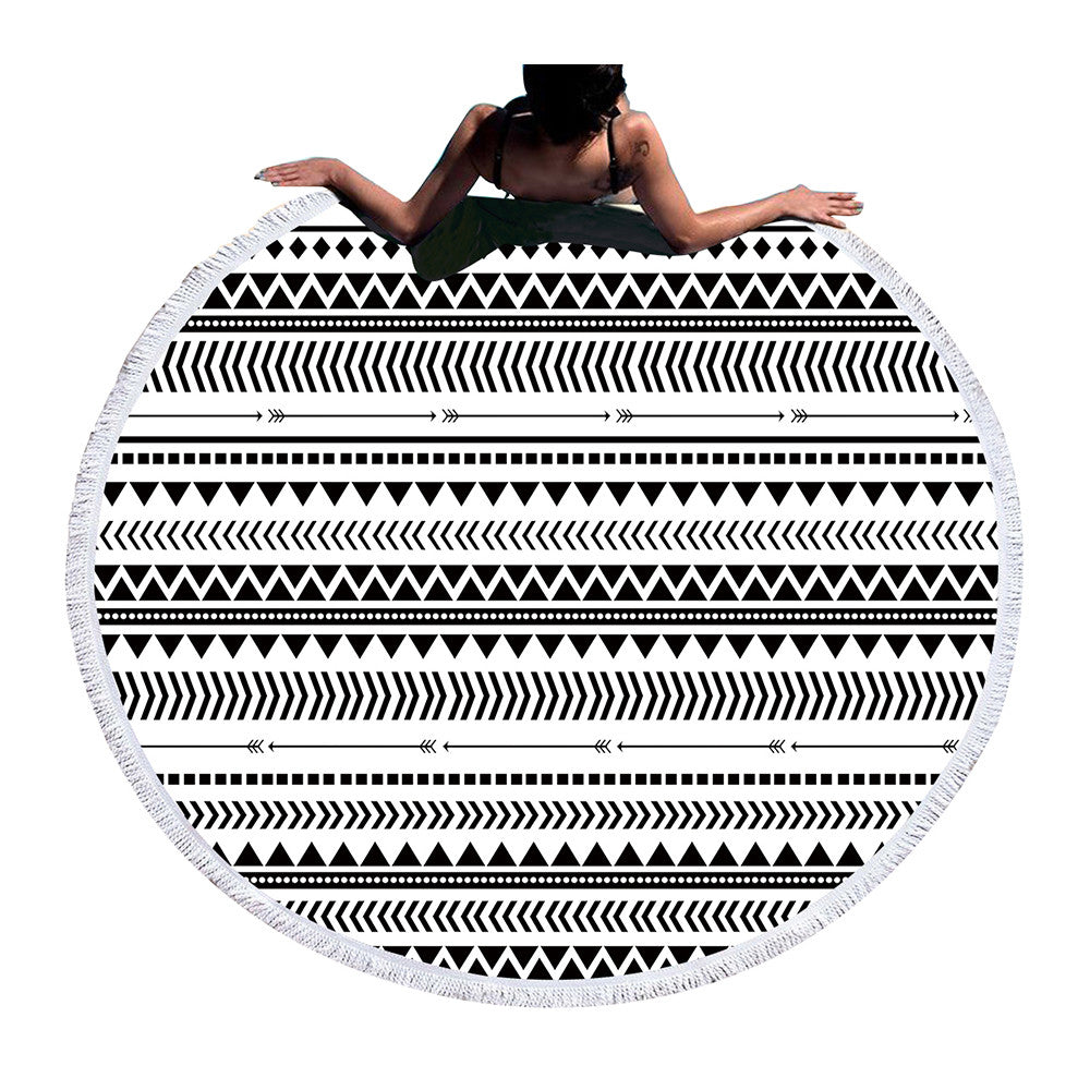 Beach Towel - Geometric Round Beach Towel - SummerHaus
