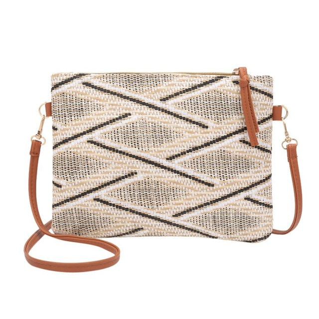 Crossbody Bag - Cross-body Woven Bag - SummerHaus