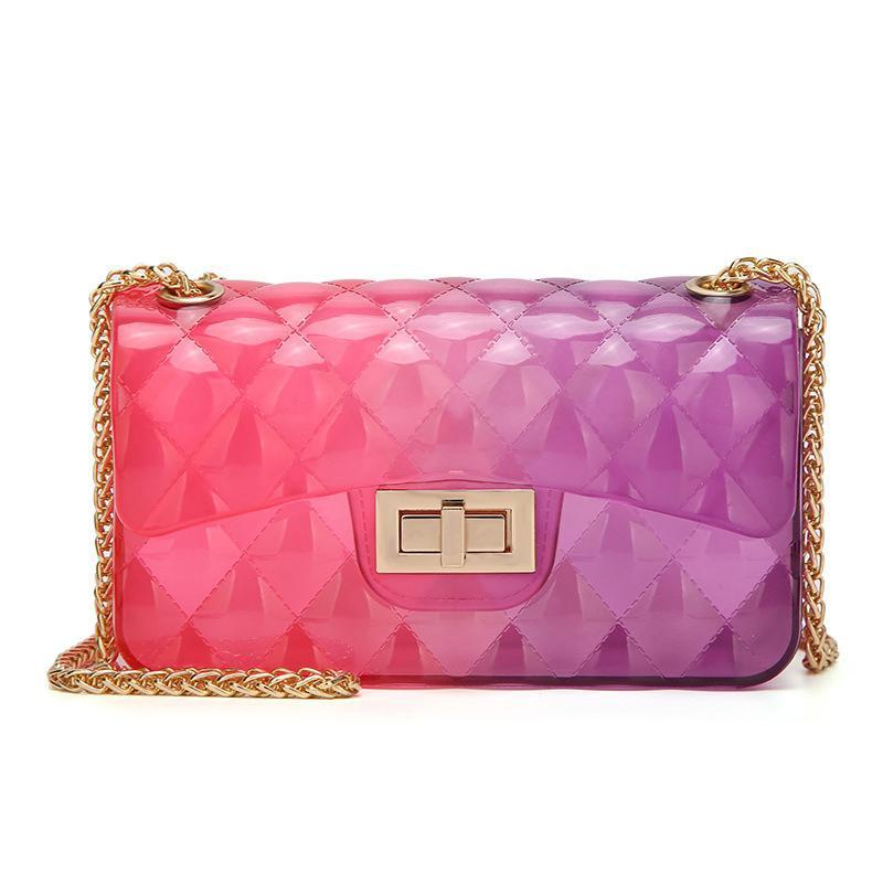 Handbag - Transparent Rainbow Clutch - SummerHaus