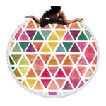 Beach Towel - Diamonds Round Beach Towel - SummerHaus