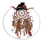 Beach Towel - Dreamcatcher Graphic Round Beach Towel - SummerHaus