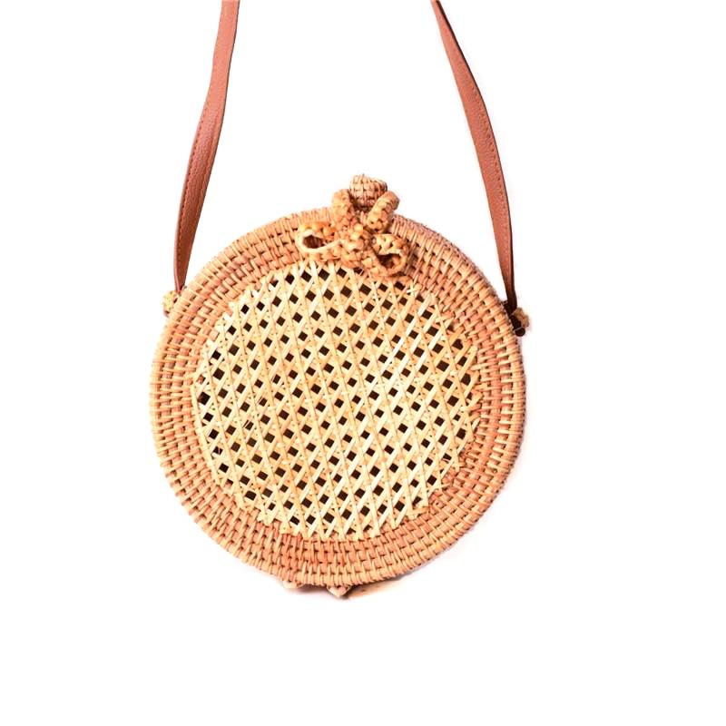 Crossbody Bag - Cane Rattan Handbag - SummerHaus