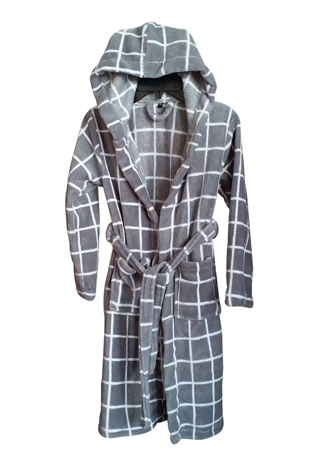 e4255bec2f Linenwalas Super Comfort Unisex Bath Gown Night Gown Poller Fleece Checks  Bath Robe