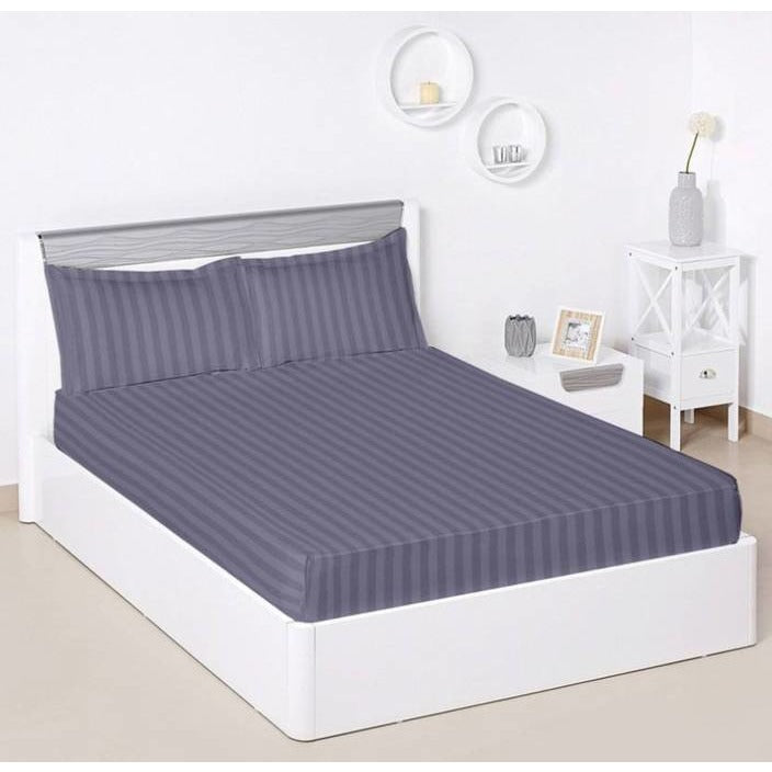 Linenwalas Fitted Bedsheets Single/Double  Cotton 310 TC With Pillow Cover