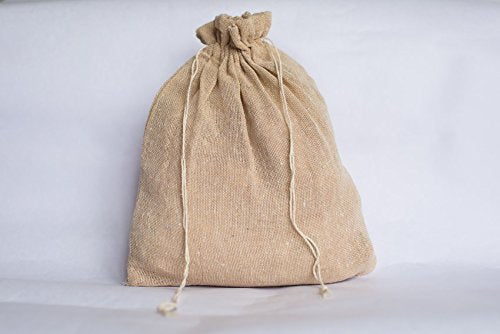 Noyyal Go Green (Nilgiri Langur) Reusable Jute Gift/Multipurpose Bag, Set of 10 (10 Bags [10x8 inches])
