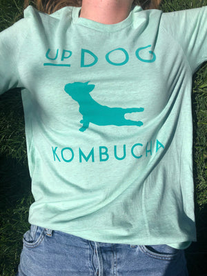What's UpDog? Tee Seafoam Green
