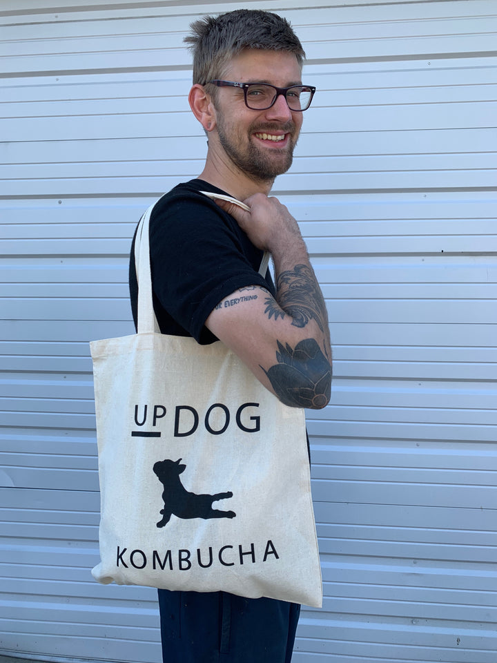 UpDog Canvas Tote Bag
