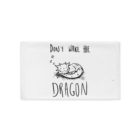 Don't Wake the Dragon Pillow Case - artmallow
