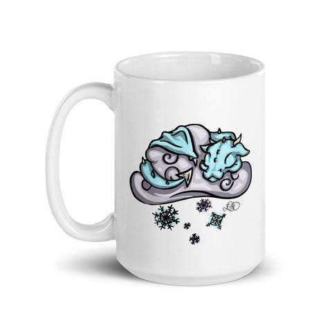 Snow Cloud Dragon Mug - artmallow