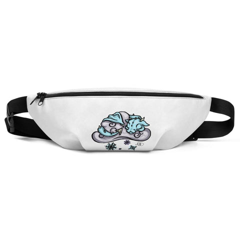 Snow Dragon Fanny Pack - artmallow