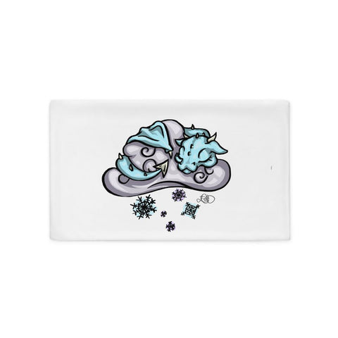 Snow Dragon Pillow Case - artmallow