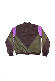BOMBER JACKET GREEN PURPLE M