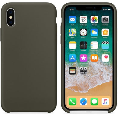 Silicone Case 'Dark Olive' ALL iPhone's - Case Discounter®