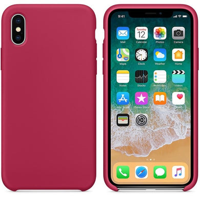 Silicone Case 'Rose Red' ALL iPhone's - Case Discounter®
